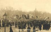 Russian Revolution, 1917: Marchers in St Petersburg