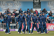 Yorkshire Vikings are out and ready to go during the Royal London 1 Day Cup match between Yorkshire County Cricket Club and Lancashire County Cricket Club at Headingley Stadium, Headingley, United Kingdom on 1 May 2017. Photo by Mark P Doherty.