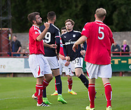 Dundee&rsquo;s Craig Wighton celebrates after scoring the opening goal - Brechin City v Dundee pre-season friendly at Glebe Park, Brechin, Photo: David Young<br /> <br />  - &copy; David Young - www.davidyoungphoto.co.uk - email: davidyoungphoto@gmail.com