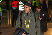 Stephan Anderson of FC Copenhagen arrives at Parkhead ahead of the Europa League match between Celtic and FC Copenhagen at Celtic Park, Glasgow, Scotland on 27 February 2020.