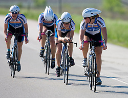 Mara Abbott, Mia Huth, Rebecca Jensen and Kendi Thomas of Whitman College won the Women's Division II team time trial with a time of 28:14.8 over the 12 mile course.  The 2007 USA Cycling Collegiate Road Championship team time trial were held in Lawrence, Kansas on May 11, 2007.