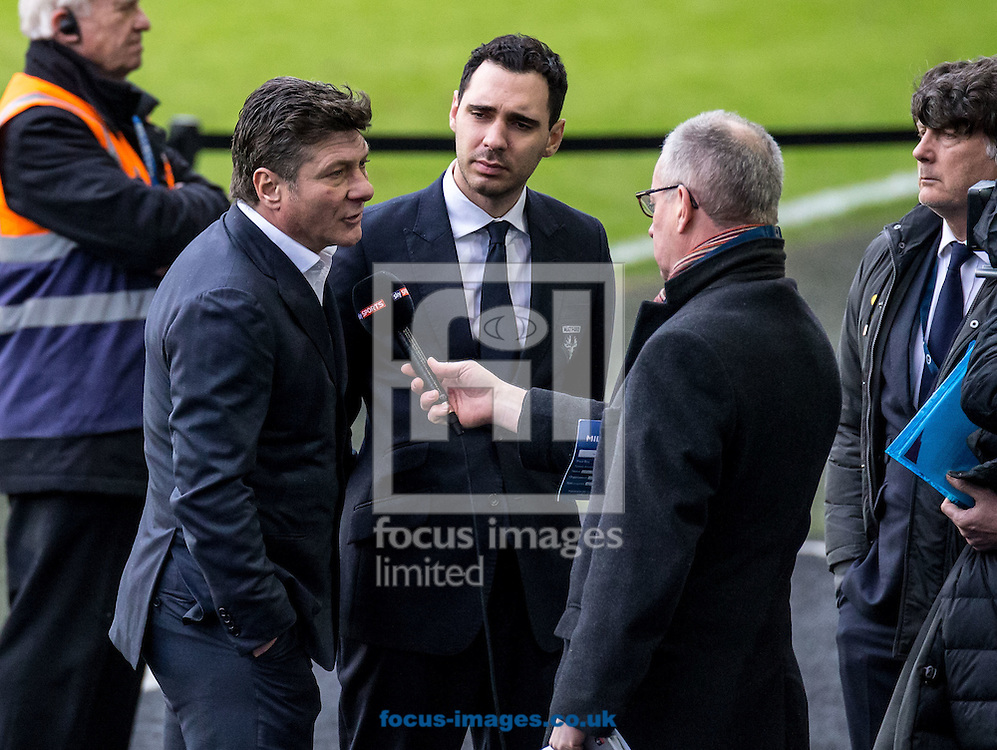 Walter Mazzarri manager of Watford being interviewed after the FA Cup match at The Den, London<br /> Picture by Liam McAvoy/Focus Images Ltd 07413 543156<br /> 29/01/2017
