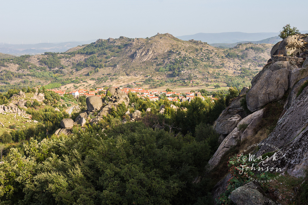 The rocky countryside outside of the village of Relva, Portugal