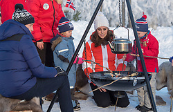 The Duke and Duchess of Cambridge are seen at a ski school in Oslo, Norway, on the final day of the Royal Tour of Sweden and Norway. <br />