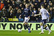 Millwall forward Aiden O'Brien (22) takes on Everton defender Lucas Digne (12) during the The FA Cup fourth round match between Millwall and Everton at The Den, London, England on 26 January 2019.