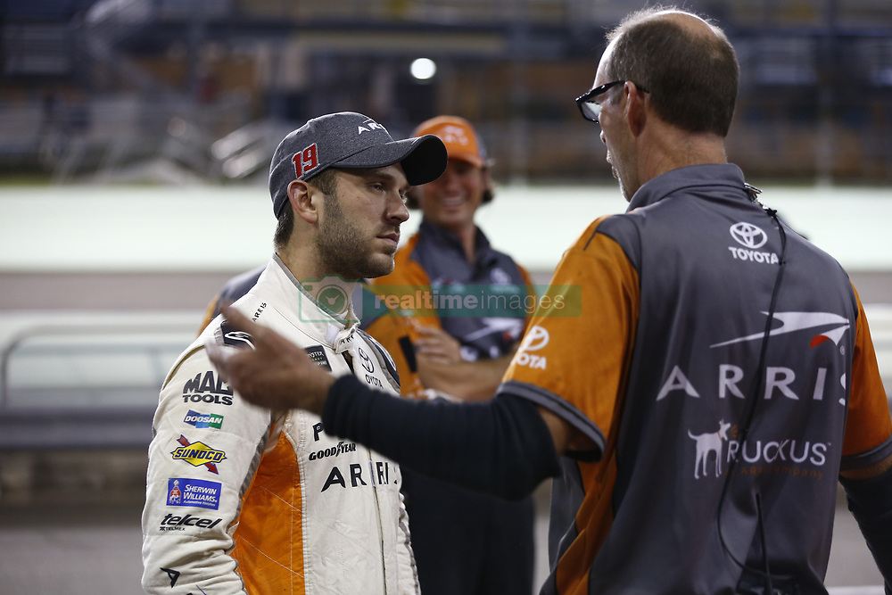 November 16, 2018 - Homestead, Florida, U.S. - Daniel Suarez (19) hangs out on pit road prior to qualifying for the Ford 400 at Homestead-Miami Speedway in Homestead, Florida. (Credit Image: © Justin R. Noe Asp Inc/ASP)
