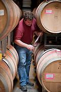 Craig Becker, Somerston winemaker, samples wine, Napa, California