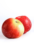 Studio shot of apples on white background