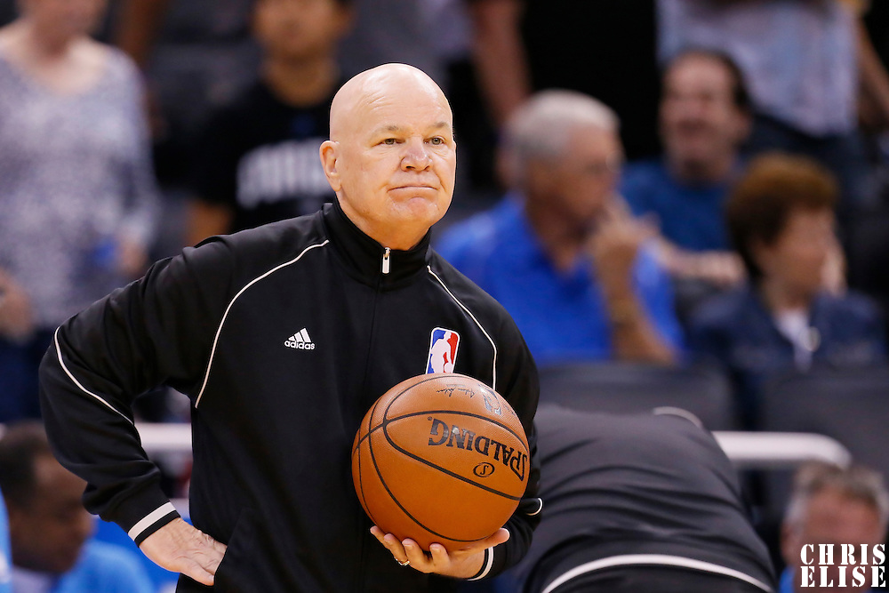30 October 2015: referee Joe Crawford (17) is seen prior to the Oklahoma City Thunder 139-136 double overtime victory over the Orlando Magic, at the Amway Center, in Orlando, Florida, USA.