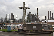 Holy Rosary Cemetery in Taft , next to the Union Carbide Taft/Star Petrochemical Plant.