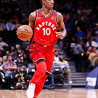 01 November 2017: Toronto Raptors guard DeMar DeRozan (10) brings the ball up court during the Denver Nuggets 129-111 victory over the Toronto Raptors, at the Pepsi Center, Denver, Colorado, USA.