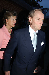 The MARQUESS & MARCHIONESS OF DOURO at the Cartier Chelsea Flower Show dinat the annual Cartier Flower Show Diner held at The Physics Garden, Chelsea, London on 23rd May 2005.<br /><br />NON EXCLUSIVE - WORLD RIGHTS