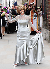 APR 6 2013 Wedding of Coronation Street actress Helen Worth