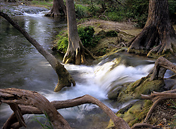 Cypress Creek near Wimberley, Texas in the Texas Hill Country.