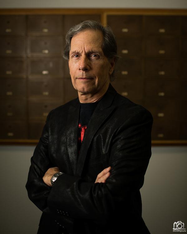 Edward Oates, cofounder of Oracle, poses for a portrait at San Jose State University's Hugh Gillis Hall in San Jose, California, on September 30, 2013. (Stan Olszewski/SOSKIphoto)