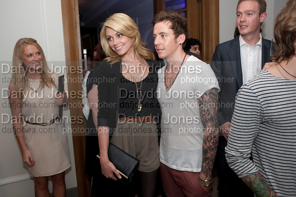 Georgia Horsley; Danny Jones, Piccadilly theatre's Ghost The Musical Opening night party. Corinthia Hotel. Whitehall Place. London. 19 July 2011. <br /> <br />  , -DO NOT ARCHIVE-© Copyright Photograph by Dafydd Jones. 248 Clapham Rd. London SW9 0PZ. Tel 0207 820 0771. www.dafjones.com.