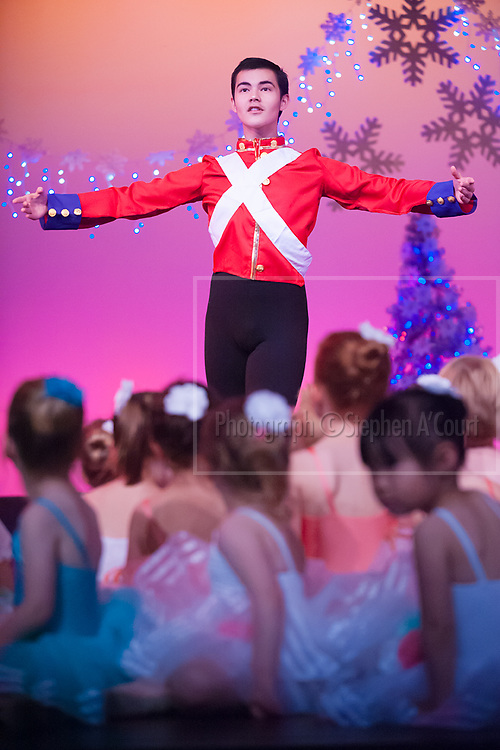 Wellington, NZ. 5.12.2015. Nutcracker Prince, from the Wellington Dance & Performing Arts Academy end of year stage-show 2015. Little Show, Saturday 3.15pm. Photo credit: Stephen A'Court.  COPYRIGHT ©Stephen A'Court