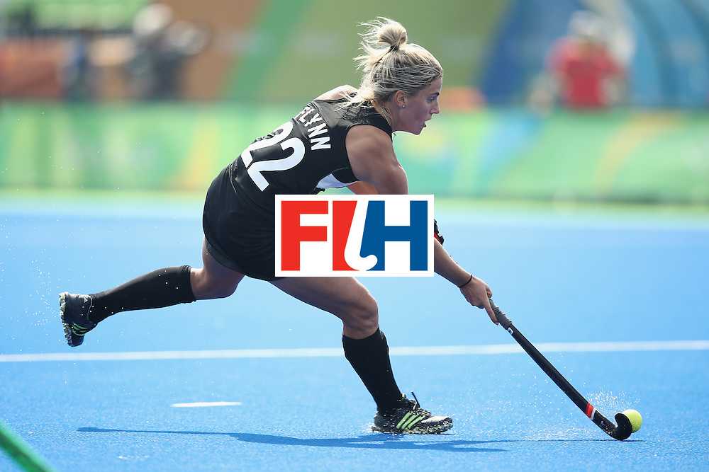 RIO DE JANEIRO, BRAZIL - AUGUST 07:  Gemma Flynn of New Zealand runs with the ball during the women's pool A match between New Zealand and the Republic of Korea on Day 2 of the Rio 2016 Olympic Games at the Olympic Hockey Centre on August 7, 2016 in Rio de Janeiro, Brazil.  (Photo by Mark Kolbe/Getty Images)