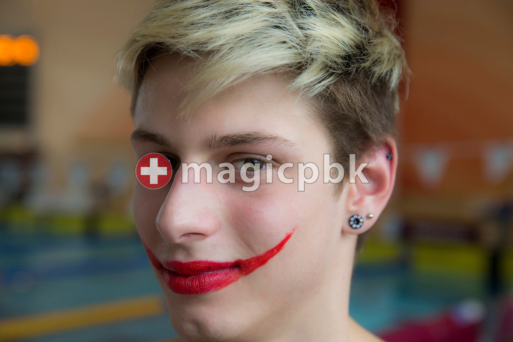 SCUW's Nico SPAHN of Switzerland poses for a photo during the NLB Swiss Swimming Club Championships at the Hallenbad Buchholz in Uster, Switzerland, Sunday, March 24, 2013. (Photo by Patrick B. Kraemer / MAGICPBK)