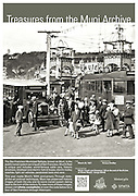 A Muni Motor Coach and Streetcar 128 take passengers to Playland at Ocean Beach at the end of the B Line | March 20, 1927 | A0128