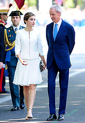 06.06.2015, Plaza de la Lealtad, Madrid, ESP, Armed Forces Day Ceremony 2015, im Bild Queen Letizia of Spain with Pedro de Morenes, Minister of Defense of the Government of Spain // during the Armed Forces Day Ceremony 2015 at the Plaza de la Lealtad in Madrid, Spain on 2015/06/06. EXPA Pictures © 2015, PhotoCredit: EXPA/ Alterphotos/ Rogelio Pinate<br /> <br /> *****ATTENTION - OUT of ESP, SUI*****