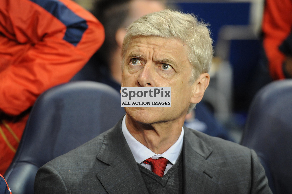 Arsenal manager Arsene Wenger before the Capital One Cup third round tie between Tottenham and Arsenal on 23rd September 2015