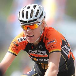 CYCLING, Huy (Belgium): The fourth race in de UCI womens worldcup Fleche Walonne. Ellen van Dijk