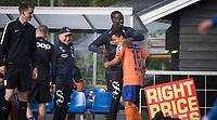 Fotball<br /> NM 3. runde <br /> Grefsen Stadion 31.05.17<br /> Kjelsås - Aalesund<br /> Marlinho feirer scoring med Edwin Gyasi<br /> <br /> Foto: Eirik Førde