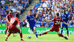 LEICESTER, ENGLAND - Saturday, September 1, 2018: Leicester City's Ben Chilwell during the FA Premier League match between Leicester City and Liverpool at the King Power Stadium. (Pic by David Rawcliffe/Propaganda)