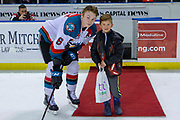 KELOWNA, CANADA - MARCH 13: Third Star of the Game Kaedan Korczak #6 of the Kelowna Rockets at the Kelowna Rockets game on March 13, 2019 at Prospera Place in Kelowna, British Columbia, Canada. (Photo By Cindy Rogers/Nyasa Photography, *** Local Caption ***