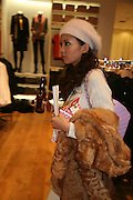 MIKIKO YANO, Uniqlo - Japanese store launch party, 311 Oxford Street, London, W1. 6 November 2007. -DO NOT ARCHIVE-© Copyright Photograph by Dafydd Jones. 248 Clapham Rd. London SW9 0PZ. Tel 0207 820 0771. www.dafjones.com.
