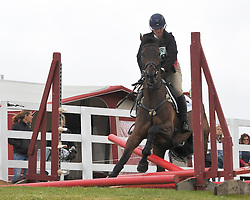 Image ©Licensed to i-Images Picture Agency. 04/07/2014. Barbury, United Kingdom. Day 2. Zara Phillips has a fence down during showjumping. Picture by  i-Images