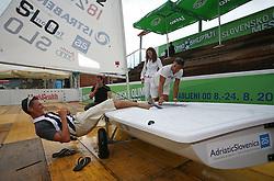 Vasilij Zbogar at welcome ceremony in Olympic City BTC, on August 23, 2008, in Alea Mladih, BTC, Ljubljana, Slovenia. (Photo by Vid Ponikvar / Sportal Images)./ Sportida)