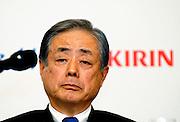 Kazuyasu Kato, president and COO of Kirin Holdings,.