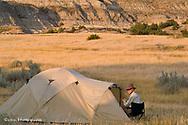 Campsite at Bennett Creek in the Little Missouri National Grasslands in North Dakota model released