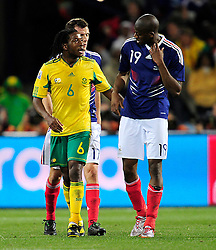 during the 2010 World Cup Soccer match between South Africa and France played at the Freestate Stadium in Bloemfontein South Africa on 22 June 2010.  Photo: Gerhard Steenkamp/Cleva Media