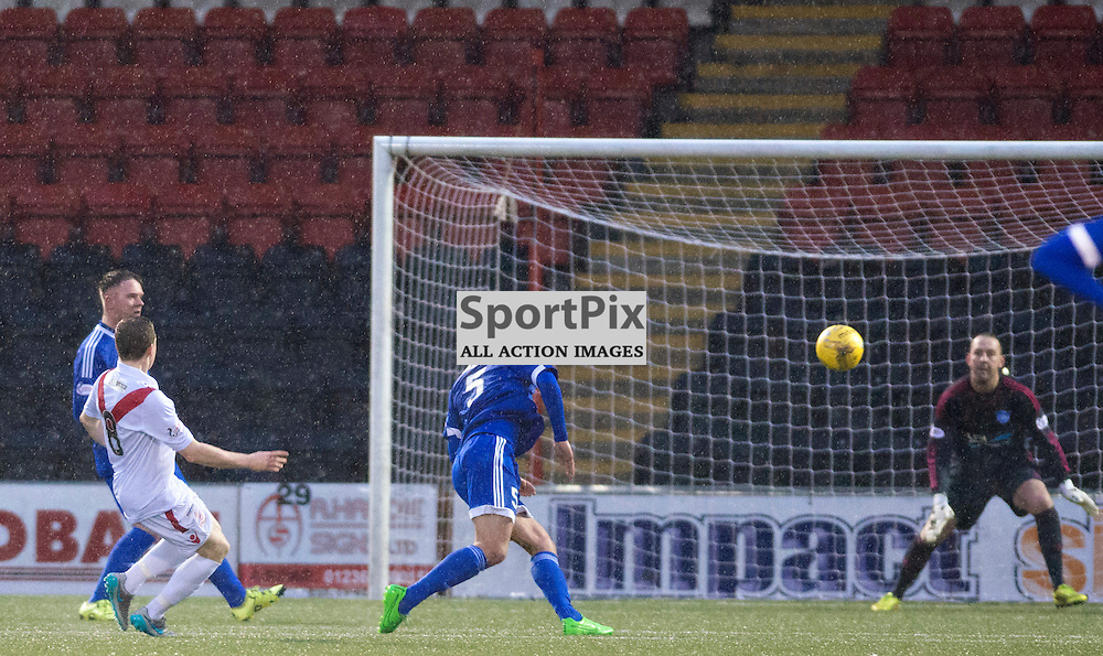 Liam Watt of Airdrie shoots and scores to put his side 2-1 up against Airdrie....(c) BILLY WHITE | SportPix.org.uk