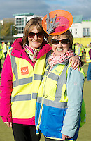 Entitled 'Hi- Five 4 Hi Vis'  A Guinness World Record for the greatest number of people wearing high visibility vests in any one place took  place in Oranmore town centre at the all weather pitch The event was supported by the Garda Siochana and the Road Safety Authority..At the event were hundreds of highly visible Margaret barrett and Rosemary Finlay (Organiser) wearing a Mark T Burke high viz hat . Picture :Andrew Downes.