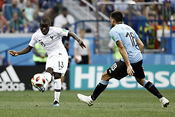 July 6, 2018 - Nizhny Novgorod, Russia - N'Golo Kante during 2018 FIFA World Cup Russia Quarter Final match between Uruguay and France at Nizhny Novgorod Stadium on July 6, 2018 in Nizhny Novgorod, Russia. (Credit Image: © Mehdi Taamallah/NurPhoto via ZUMA Press)