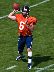 Virginia quarterback Marc Verica (6) in action during the spring game.  The Virginia Cavaliers football team played the annual spring football scrimmage at Scott Stadium on the Grounds of the University of Virginia in Charlottesville, VA on April 18, 2009.  (Special to the Daily Progress / Jason O. Watson)