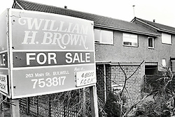 House for sale, Crabtree Farm housing estate, Bulwell, Nottingham UK 1986