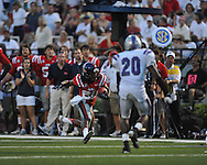 Ole Miss wide receiver Korvic Neat (28) vs. Central Arkansas at Vaught-Hemingway Stadium in Oxford, Miss. on Saturday, September 1, 2012. (AP Photo/Oxford Eagle, Bruce Newman)..