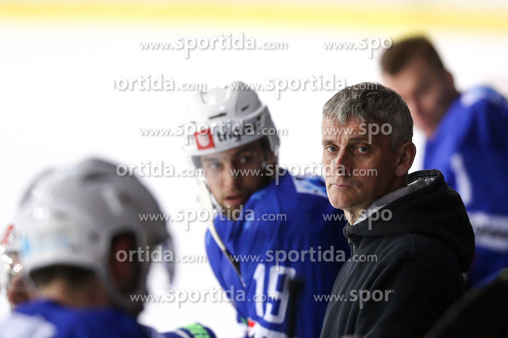 Milan Dragan, equipment manager of Slovenia, during friendly ice hockey match between Slovenia and Croatia, on April 12, 2016 in Ledena dvorana, Bled, Slovenia. Photo By Matic Klansek Velej / Sportida