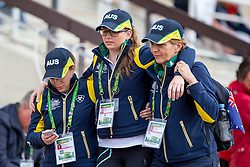 Supporter Team AUS - Individual Test Grade IV Para Dressage - Alltech FEI World Equestrian Games™ 2014 - Normandy, France.<br /> © Hippo Foto Team - Jon Stroud <br /> 25/06/14