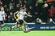 Callum Robinson (Preston North End) and Arsenal midfielder Alex Oxlade-Chamberlain (15) during the The FA Cup 3rd round match between Preston North End and Arsenal at Deepdale, Preston, England on 7 January 2017. Photo by Pete Burns.