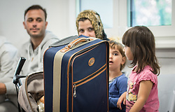 September 7, 2016 - Giessen, Hesse, Germany - Asylum applicants waiting at the 'Arrival Center for Refugees' in Giessen, Germany, 7 September 2016. The number of people that arrive here has decreased significantly in comparison to the past year. PHOTO: BORIS ROESSLER/dpa (Credit Image: © Boris Roessler/DPA via ZUMA Press)