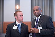 19105?Kroger Day? lunch at Walter Hall with Keynote address by M. Marnette Perry, Vice Chair, Board of Trustees...Kroger Executive ..Carver Johnson and student Chris Murnane(left)