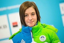 Anita Seretinek during presentation of Slovenian Young Athletes before departure to EYOF (European Youth Olympic Festival) in Vorarlberg and Liechtenstein, on January 21, 2015 in Bled, Slovenia. Photo by Vid Ponikvar / Sportida