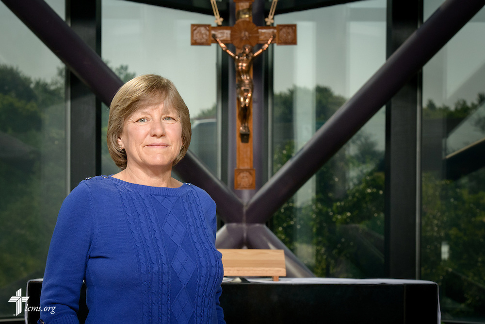 Portrait of Jana Ingelhart, career missionary to the Dominican Republic, at the International Center of The Lutheran Church–Missouri Synod on Monday, June 13, 2016, in Kirkwood, Mo. LCMS Communications/Erik M. Lunsford