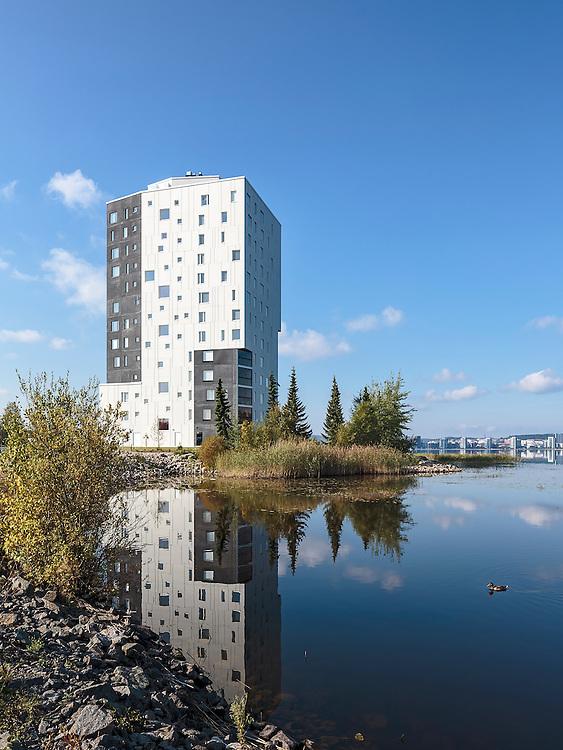 Maailmanpylväs apartments in Jyväskylä, Finland designed by JKMM architects.